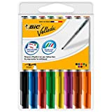 BIC Velleda 1741 Whiteboard Pens - Assorted Colours, Pouch of 8