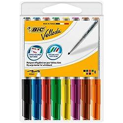 BIC Velleda - Rollo adhesivo, 1 m x 2 m + Pack de 8 ...