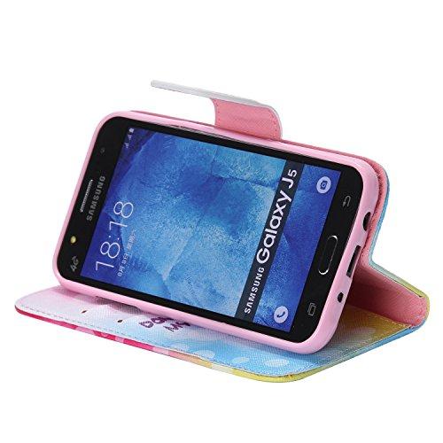 Ooboom® Samsung Galaxy J1 Coque PU Cuir Flip Housse Étui Cover Case Wallet Portefeuille Fonction Support avec Porte-cartes pour Samsung Galaxy J1(2015 Version) - Don't Touch My iPhone Don't Touch My Phone