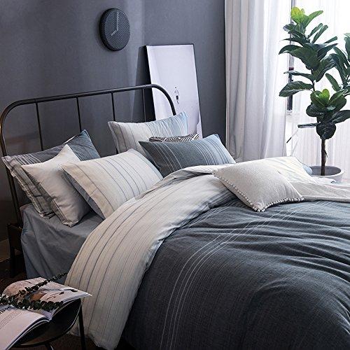 Auf Einem Damast Teppich (Lausonhouse Garn gefärbt 100% Baumwolle Bettwäsche-Set - 200x220)