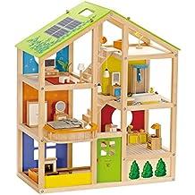 Hape Casa de muñecas madera grande con muebles Barrutoys HAP-E3401