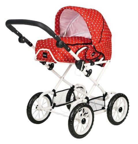 Preisvergleich Produktbild BRIO 24891311 - Puppenwagen Combi, punkten, rot