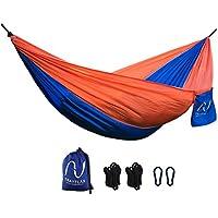 Hamaca portátil y ultra-ligera TRAVELAX - incluidos los soportes para colgar - hecha de nailon paracaídas resistente, ideal como hamaca de jardín, playa, viaje o piscina