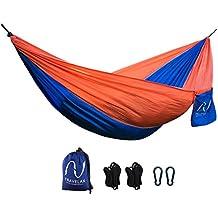 ❤️ Amaca da giardino ❤️ – compreso kit di supporto - portatile e leggera in nylon paracadute per viaggio o campeggio di Travelax