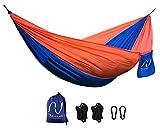 ❤️ Amaca da giardino ❤️ – compreso kit di supporto - portatile e leggera in nylon paracadute per viaggio o campeggio di Travelax - Travelax - amazon.it