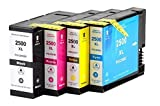 Bubprint 4 Druckerpatronen kompatibel für Canon PGI-2500XL für Maxify IB4050 MB5050 MB5100 MB5150 MB5155 MB5300 MB5350 MB5400 MB5450 MB5455 BK/C/M/Y