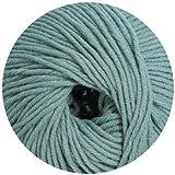 50 gr. Cora Fb. 519 sky mix, Brandneu, Strickwolle, Merinowolle, Online, Linie 20