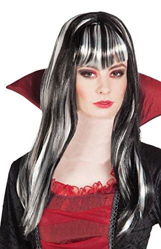 Boland 86089 - Parrucca Vampira Medea, Nero/Bianco