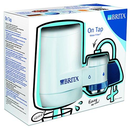 BRITA On Tap Sistema de Agua filtrada acoplado al Grifo con Filtro para 3 Meses, Blanco
