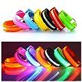Namsan LED-Licht Armband sicher Walking / Laufen Flashing Schweißband, Nacht Radfahren Jogging Reflektierende Armband verstellbaren Visible Outdoor-Enthusiasten Beleuchtung Hip-Hop Performance Props, 7 Farben erhältlich