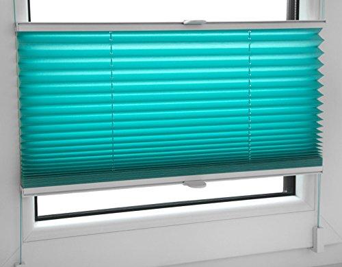 Store plissé Store Pliant 40 X 200 cm Turquoise inkl. Supports de serrage Store – Mega Sélection dans notre boutique – 80 Large – 12 couleurs