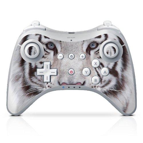 Nintendo Wii U Pro Controller Case Skin Sticker aus Vinyl-Folie Aufkleber Schneetiger Weißer Tiger