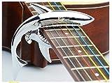 Youniker Kapodaster,Quick Change Shark Kapodaster für 6 Saiten Akustik Gitarre, Westerngitarre,E-Gitarre,Klassische Gitarre,einhändig Akustische Gitarre Capo mit 2 Plektrum Plektron Picks