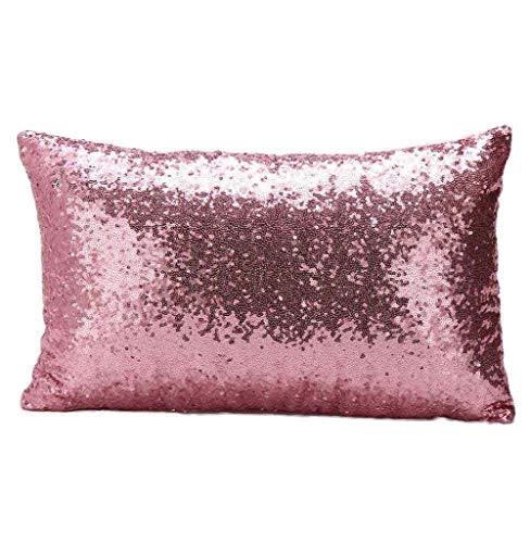 Susenstone®Solid Color Glitter Pailletten Dekokissen Fall (Rosa) (Wohnungen Rosa Glitter)