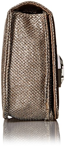 Jessica McClintock Anna Clutch Donna Sintetico Champagne Glitter