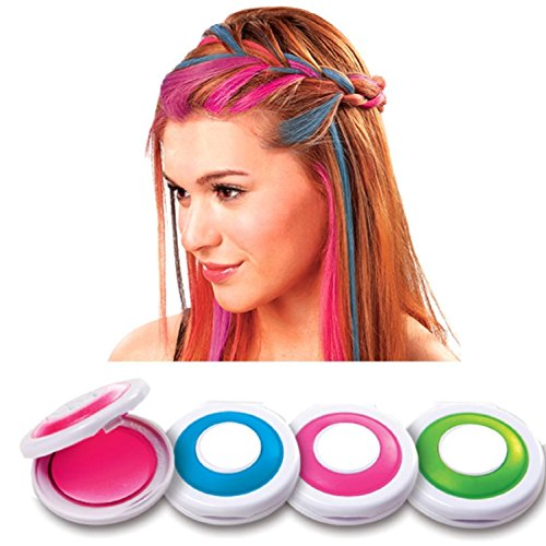 PETRICE Hot Huez Temporary Hair Chalk, Set Of 4 Colors  available at amazon for Rs.327