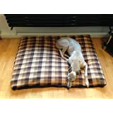 KosiPet® Brown Check Fleece Deluxe Extra Large Waterproof Dog Bed,Dog Beds,Pet Bed,Dogbed,Dogbeds,Petbed,Petbeds,