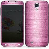 Samsung Galaxy S4 Case Skin Sticker aus Vinyl-Folie Aufkleber Metal Look - Pink Metall Rosa Pink