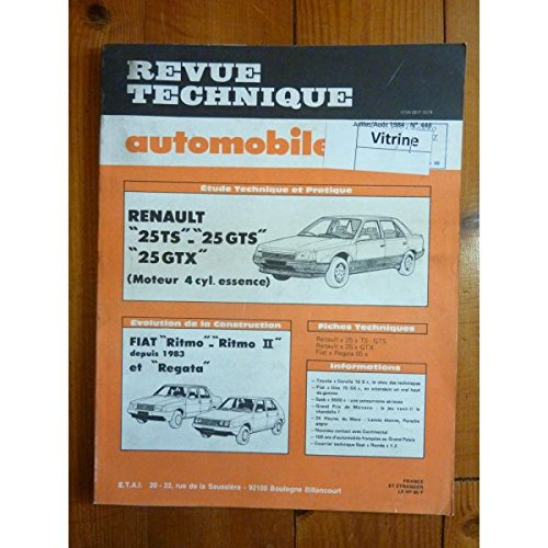 RTA0446 - REVUE TECHNIQUE AUTOMOBILE RENAULT R25 TS - GTS - GTX 4 cylindres Essence