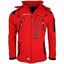 Geographical Norway Tambour Chaqueta Softshell Impermeable Para Hombre Color Rojo Tamaño Small