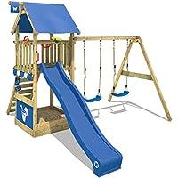 Festnight Parque Infantil de Jardin con Tobog/án y Escalera 237x60x175 cm Material de Madera