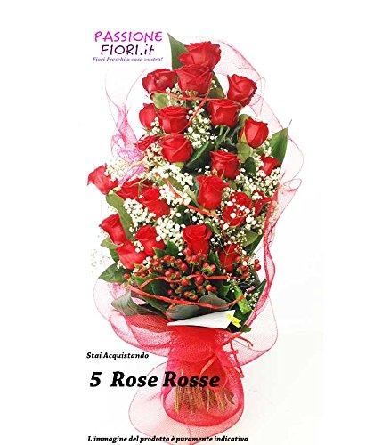 consegna-mazzo-fiori-freschi-5-rose-rosse