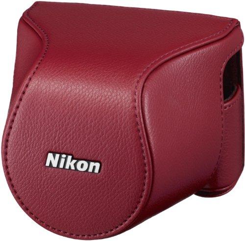 Nikon CB-N2200S Leder-Systemtasche für Systemkamera-Serien 1 J3/1 S1 rot