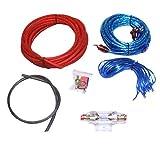 Winomo Audio-Stereo-Kabel fürs Auto, 8GA, Kabel für Autoaudio-Subwoofer, Verstärker, Installationskabel, AMP-Verkabelung, Kabel-Set