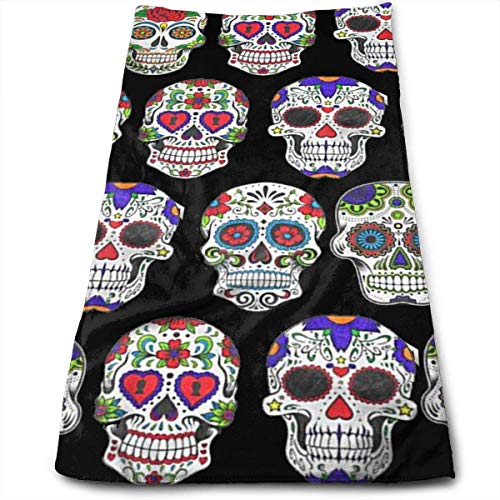 r Skull Flower Art Kitchen Dish Towels with Vintage Design for Use In Kichen at Paties,Weddings,Dinners Or Events,12