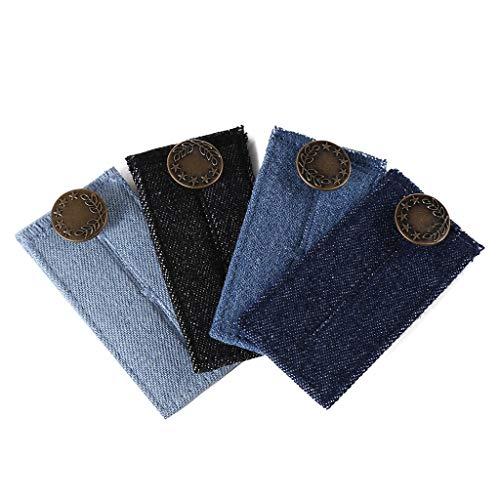 Preisvergleich Produktbild TAOtTAO Gürtelverlängerungsschnalle Denimschnalle (4er Set) (hellblau,  schwarz,  dunkelblau,  Navy)