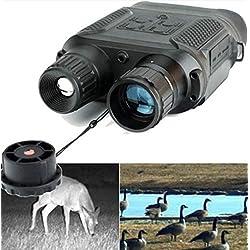 """Jumelles, portée binoculaire de Chasse Infrarouge de HD Digital avec 2""""caméra IR à grossissement 7X TFT LCD et Fonction d'enregistrement vidéo Jour et Nuit à 1300ft"""