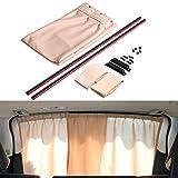 Finoki Auto-Sonnenschutz -Vorhänge Auto Schatten Vorhang Sonnenblenden für Kinder die Heckscheibe und die Seitenfenster Speichern Datenschutz // UV-Schutz Hitzeschutz // Abdunkeln // Anti-Sonne (Beige)