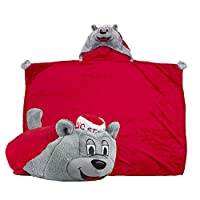 Comfy Critters Stuffed Animal Blanket - College Mascot, NC State University