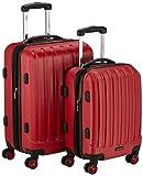 Packenger Premium Koffer 2er-Set Velvet, M/L, Rot