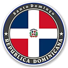 2 x 10cm/100 mm República Dominicana Etiqueta autoadhesiva de vinilo adhesivo portátil de viaje
