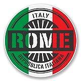 2 x 25cm/250 mm Rome Italie Autocollant de fenêtre en verre Voiture Van Locations #6106