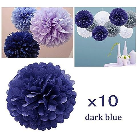 JZK® 10 x 10 pouces 25 cm, tissu pom poms