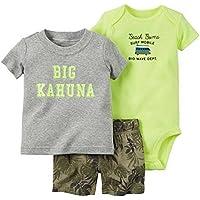 ARAUS Conjuntos Recien Nacido Pequeño Niño Bebé Ropa Dibujos Animados Imprimir Camiseta Tops + Pantalones Cortos Conjuntos,0-24 Meses