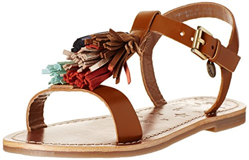 Pepe Jeans Maya Tassel, Sandales Fille Marron (877 Nut Brown)