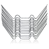 Extra lange hochwertige Gewächshaus Klammern – 50 Premium Glasfederklammern für Gewächshäuser...