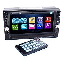 PolarLander radio de coche de 2 DIN 6.6 pulgadas Bluetooth en el tablero de la pantalla táctil del vehículo Radio Audio estéreo MP3 MP5 reproductor doble Mensajes USB