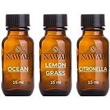 NAWAB Essential Aroma Diffuser Oil(Ocean,Lemongrass,Citronella-15ml Each)
