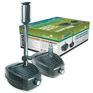 All pond solutions fpp 4500 pond pump with fountain for Pond supply companies