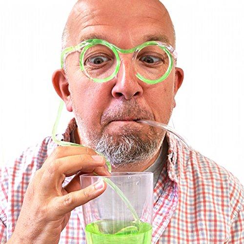 5 pcs Kunststoff DIY Trinkhalm Brillen, Gläser dumm Stroh, Stroh erstaunlich Gläser(klar)