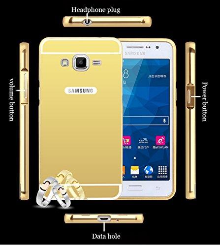 Custodia Samsung Galaxy J5 (2015) J500 Cover Case , Vandot [360 gradi] 3 in 1 Protezione Completa Glitter Sparkle Bling Bling Trasparente Custodia per Samsung Galaxy J5 (2015) J500 Cover Case Caso Gom M-Oro