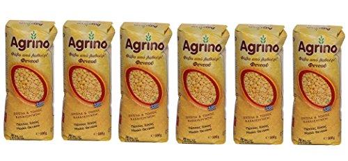 Agrino Fava griechische Plattbohnen Spar Set 6x 500g Beutel getrocknet Kichererbsen Fawa gelbe Linsen aus Griechenland 3kg + Probiersachet Olivenöl aus Kreta