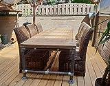Cosywood Moderne Tisch Modell Toskana Industriestil Massive Esstisch Gerüst Holz Steigerhout Esstisch Vintage Gartentisch Konferenztisch