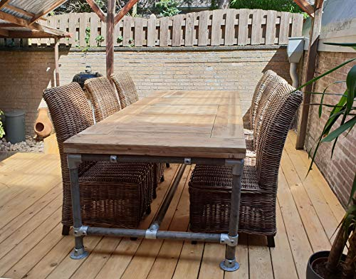Cosywood Moderne Tisch Modell Toskana Industriestil Massive Esstisch Gerüst Holz Steigerhout...