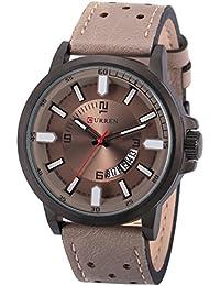AMPM24 CUR113 Reloj Fecha Hombre Cuarzo de Cuero Gris