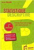 Statistique descriptive - Manuel d'exercices corrigés avec rappels de cours